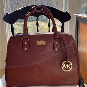 NWT Michael Kors pebbled leather satchel w-strap